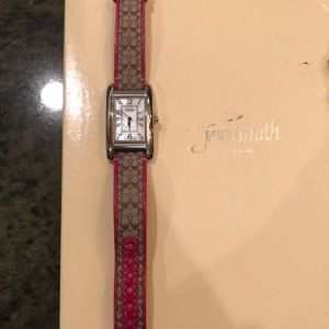 Coach Pink Leather Watch